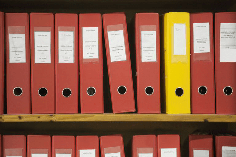 Files, just like in real life.