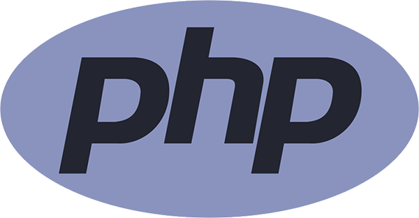 The logo for the PHP language.