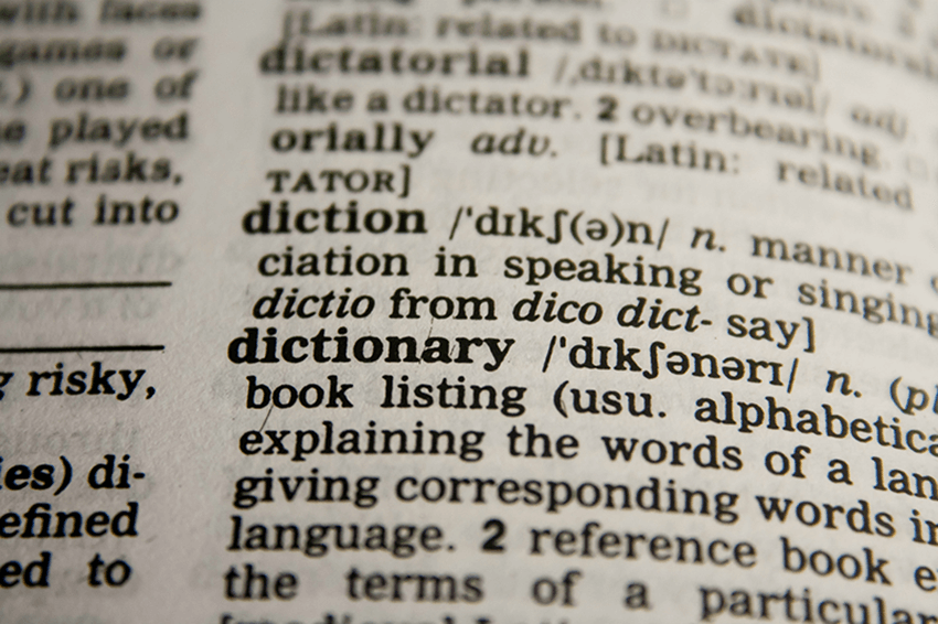 Basically an actual dictionary but in code.