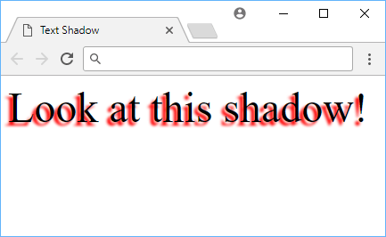 Example of text shadow.