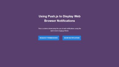 Push.js Notifications App