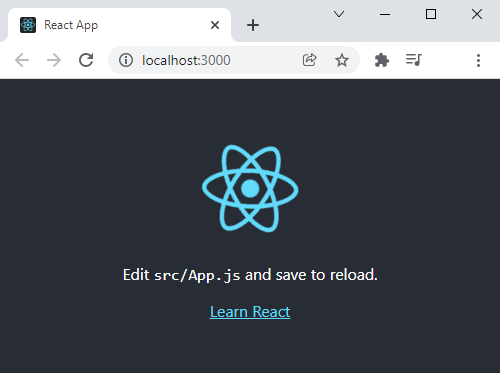 Basic Create React App set up.