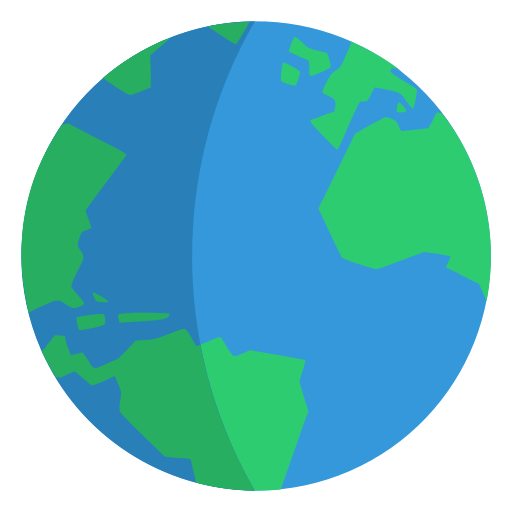 A graphic of the Earth.
