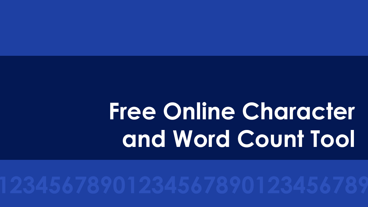 Free Online Character and Word Count Tool