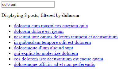 Searchable posts via the search field.