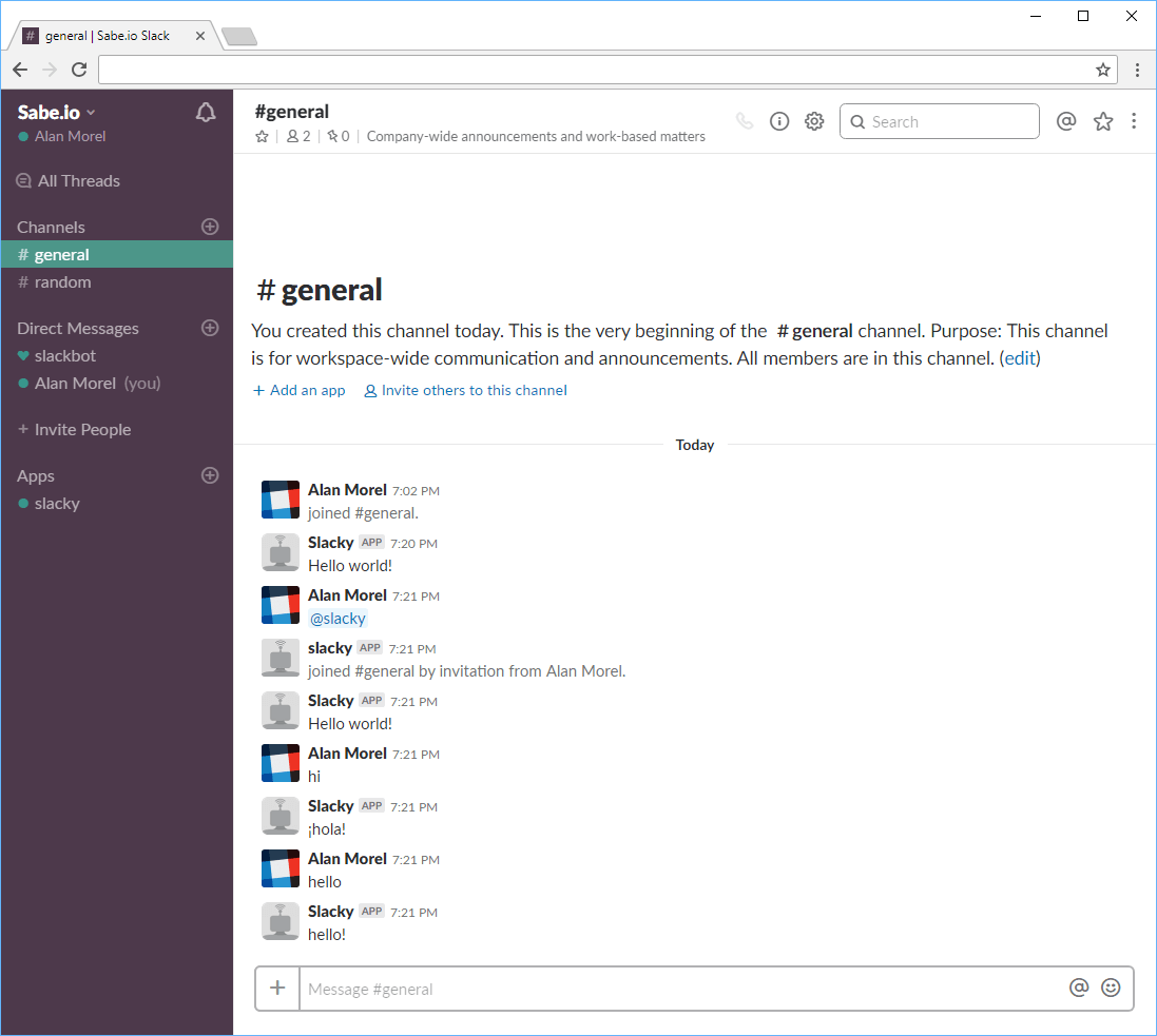 Learn how to build a Slack Bot using Node js ← Sabe io